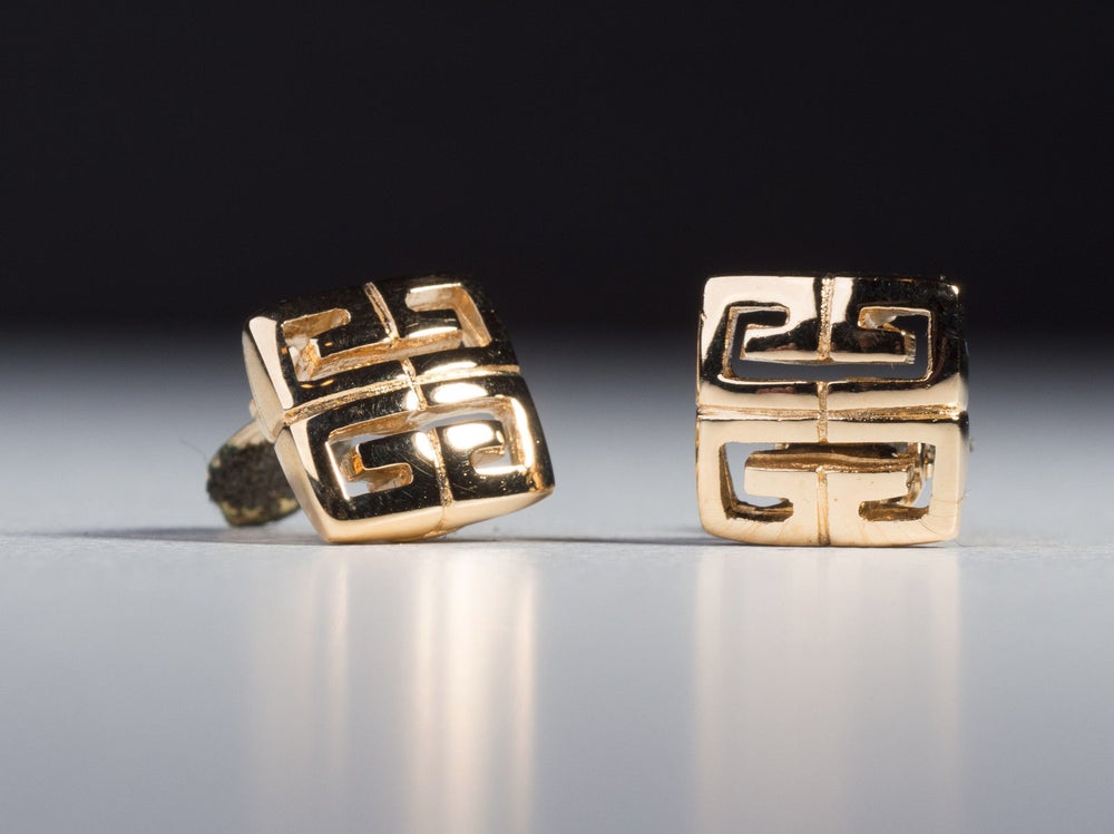 Image of Givenchy Earrings - Authentic Vintage Givenchy Square Clip On Earrings