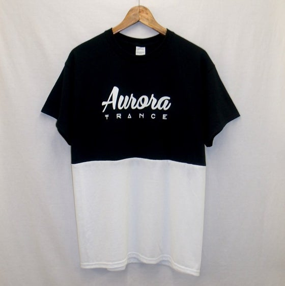 Image of Black//white panel original logo t-shirt