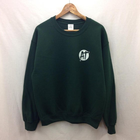 Image of Dark green AT logo sweatshirt