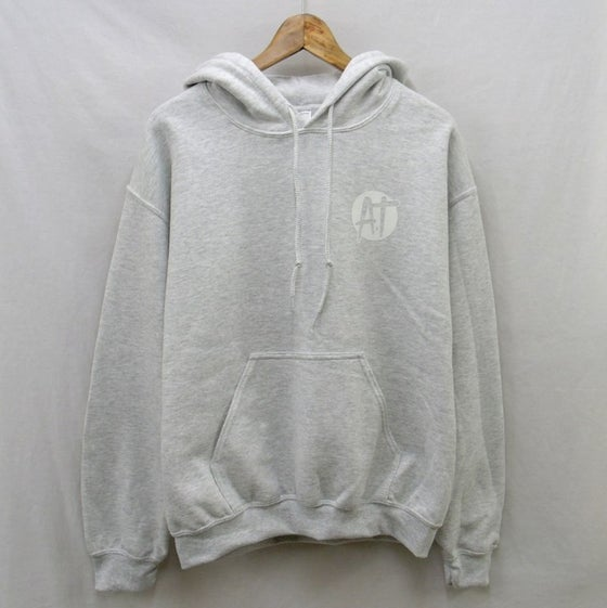 Image of Ash grey chest logo pullover hoodie