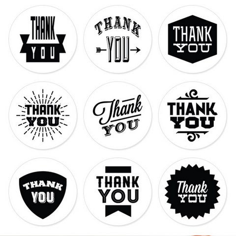 Image of Thank You Stickers