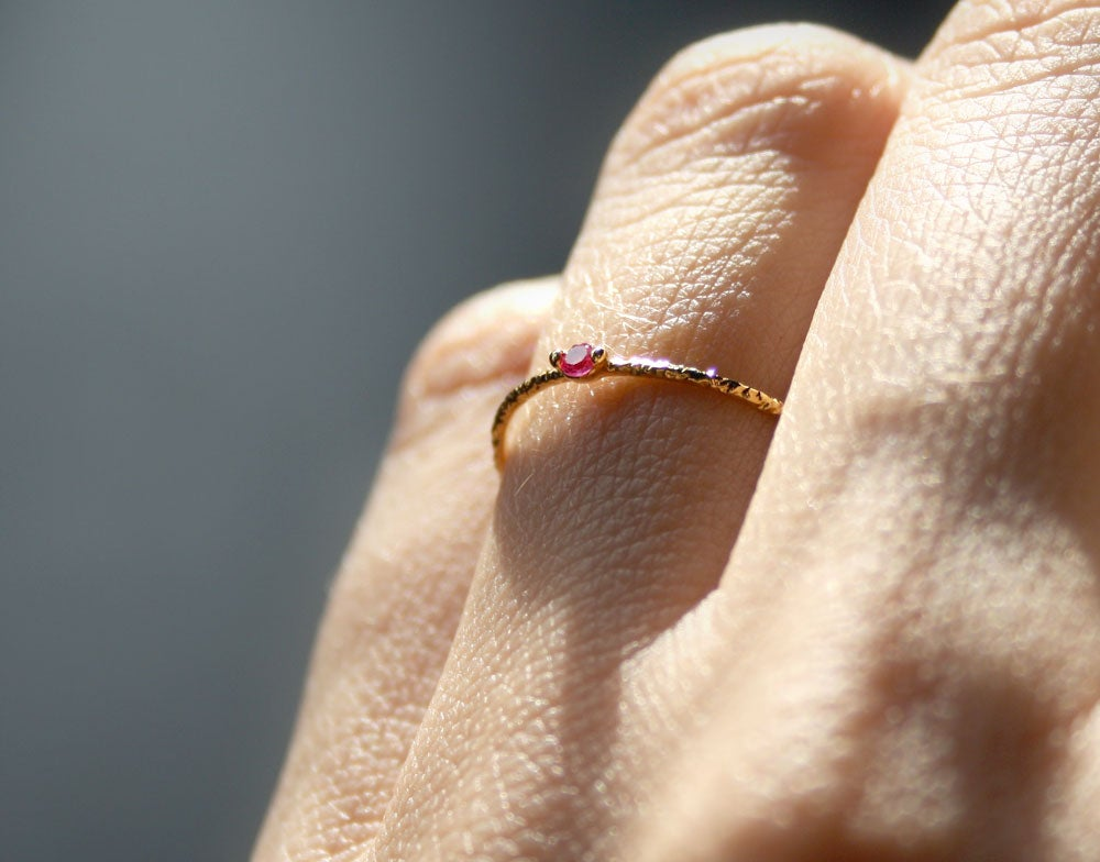 Image of PINK ZIRCONIA RING