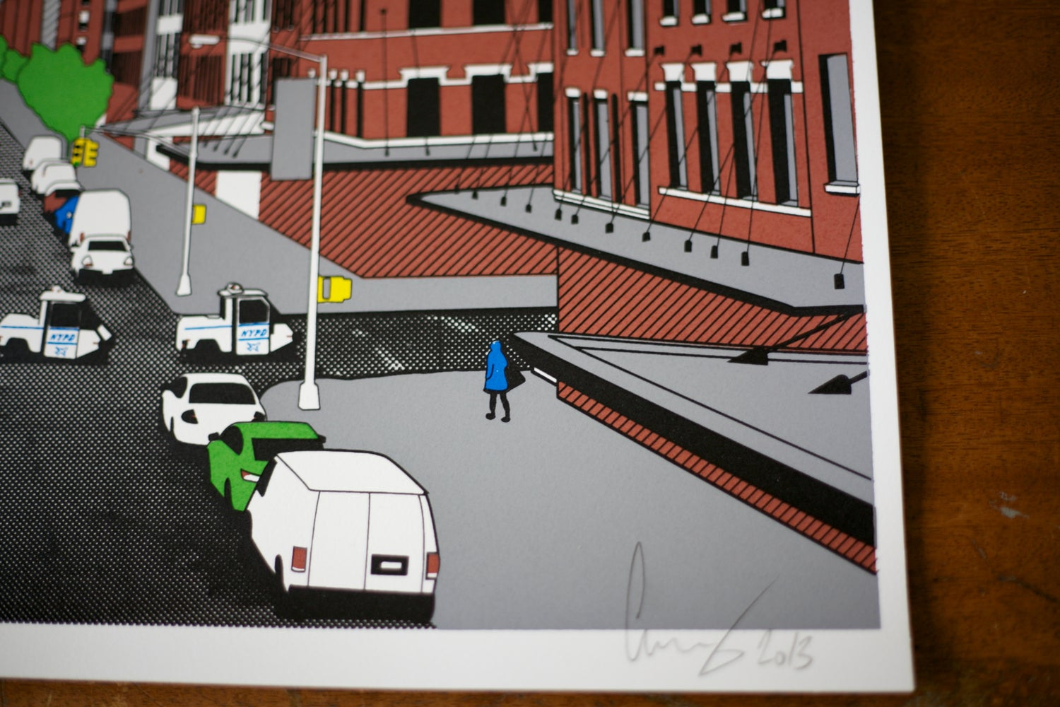 Image of From the Highline screen print