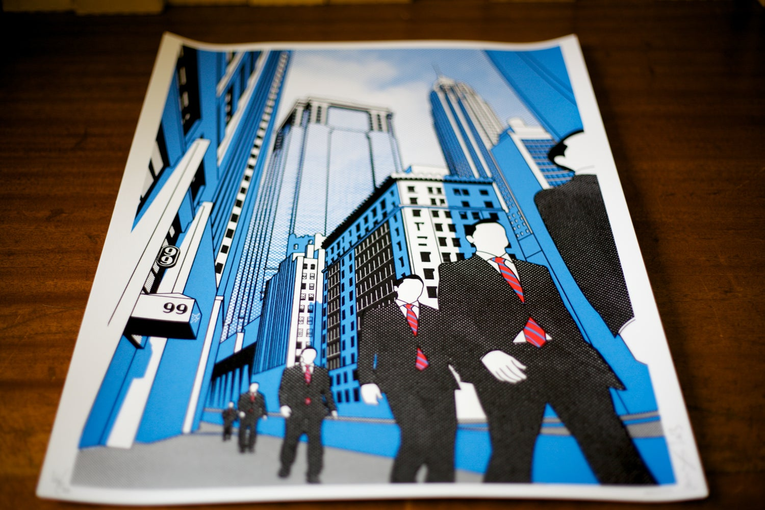 Image of Wall St screen print
