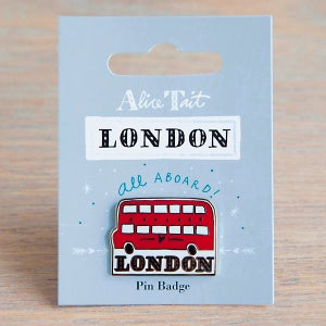 Alice Tait 'London Bus' Pin Badge - Alice Tait Shop