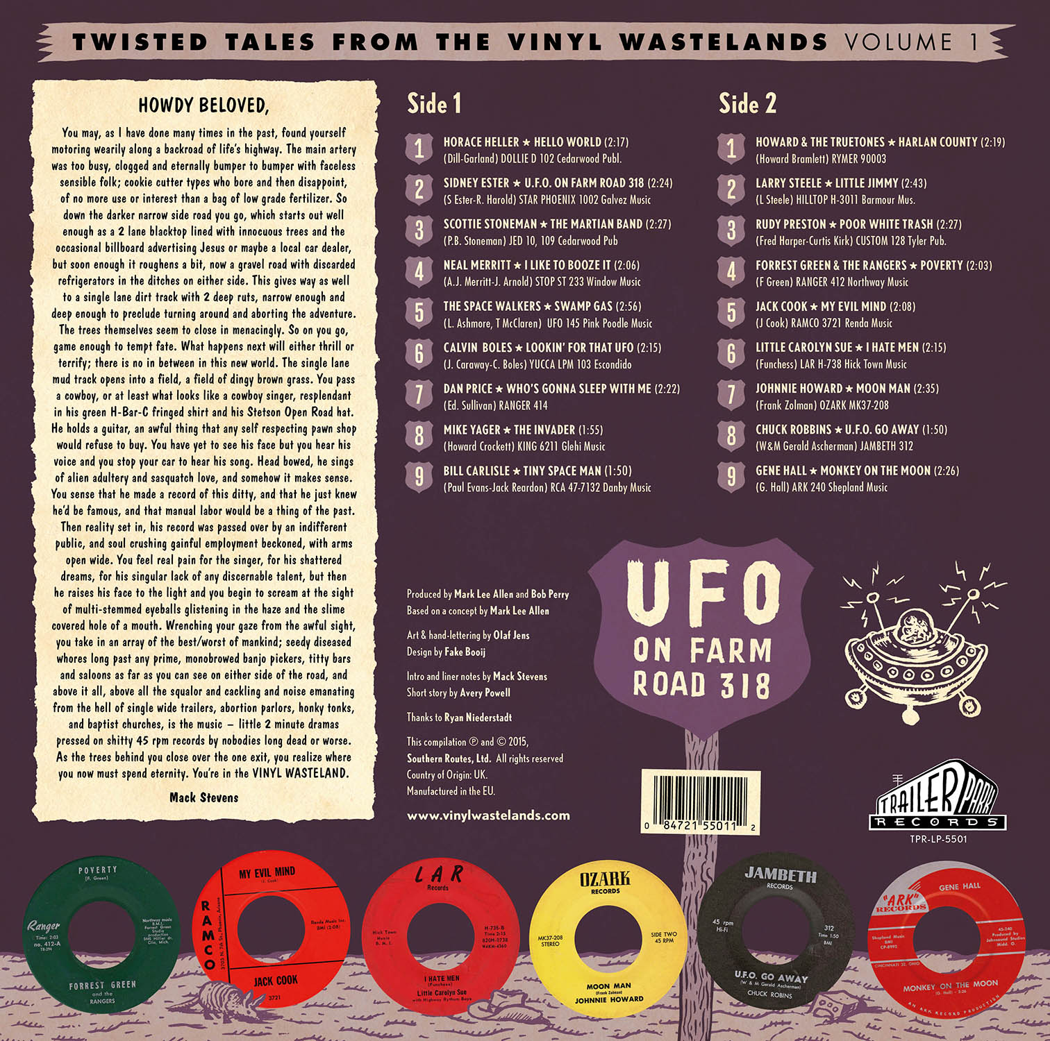 Twisted Tales From The Vinyl Wastelands Volume 1