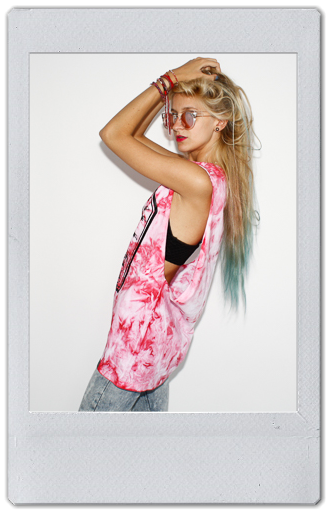 Image of RED TIE DYE TANK TOP