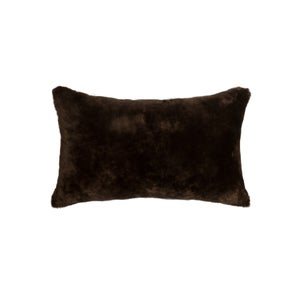 Image of 676685007568 Natural-NELSON SHEEPSKIN PILLOW CHOCOLATE