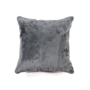 Image of 676685025791 Natural-NELSON SHEEPSKIN PILLOW GRAY