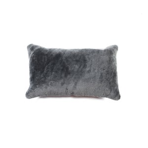 Image of 676685025807 Natural-NELSON SHEEPSKIN PILLOW GRAY