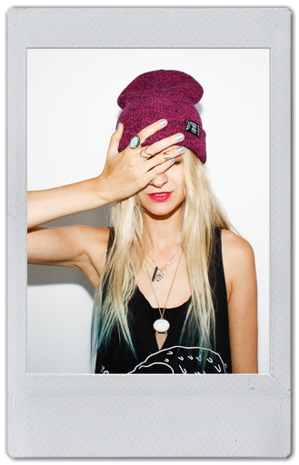 Image of PINK HEATHER BEANIE