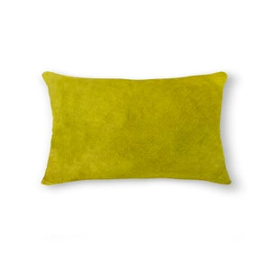 Image of 676685025562 Natural-TORINO-COWHIDE- PILLOW YELLOW
