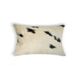 Image of 676685025692 Natural-TORINO-COWHIDE-PILLOW-WHITE & BLACK