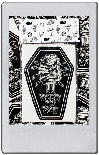 Image of STICKER PACK - BLACK