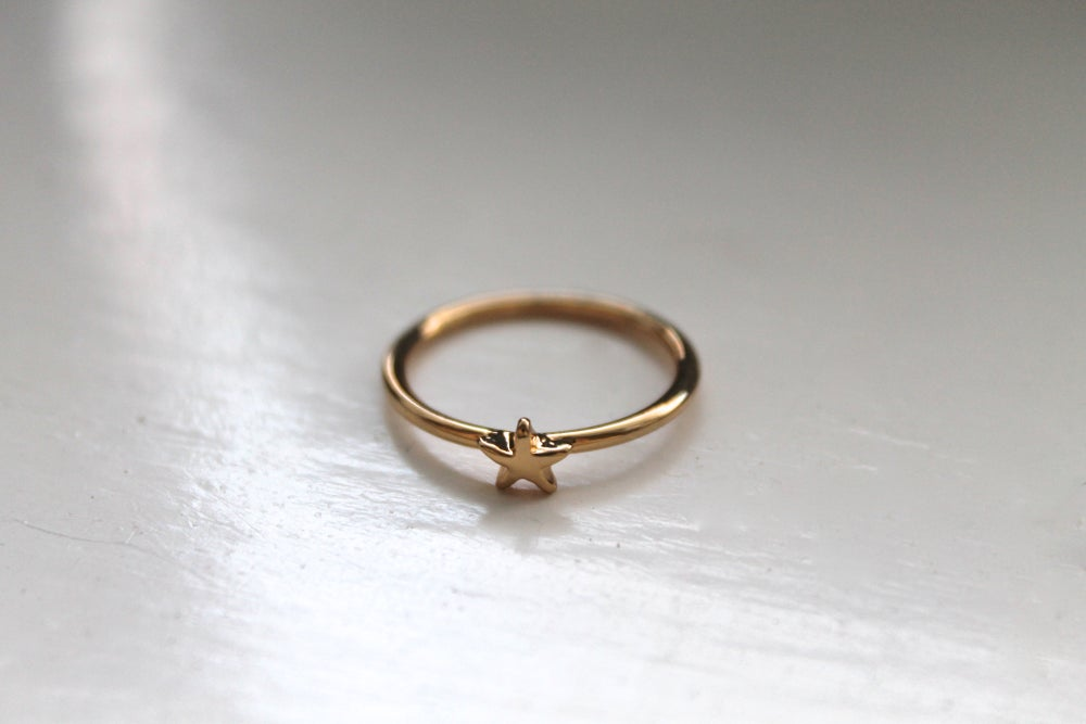 Image of Tiny Gold Star Stacking Ring