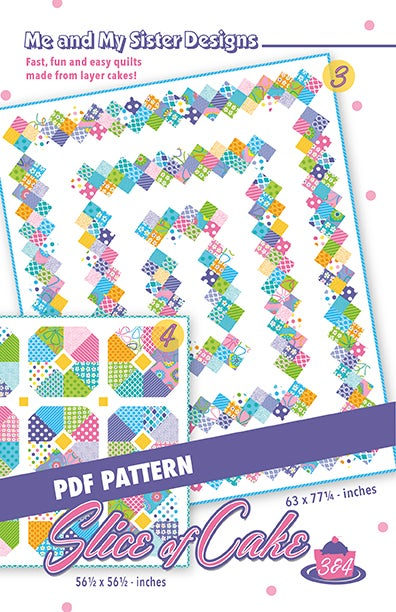 Image of Slice of Cake 3 & 4 PDF pattern