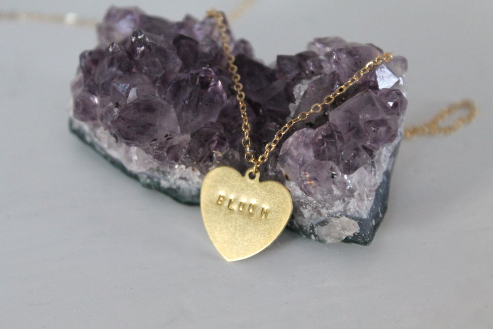 Image of Hand-Stamped Bloom Necklace