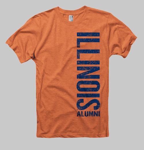 Image of Illinois Left Coast Alumni Tee - Orange