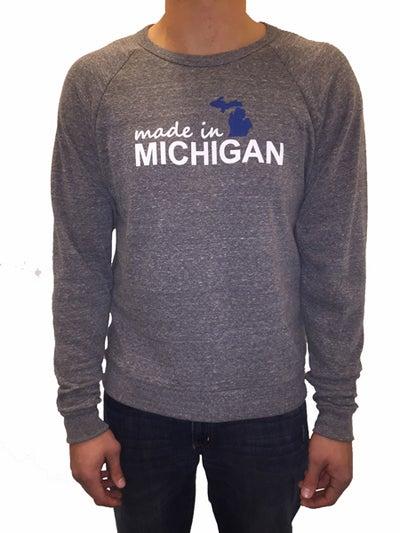 Image of Made In Michigan Unisex Crew Neck Sweatshirt