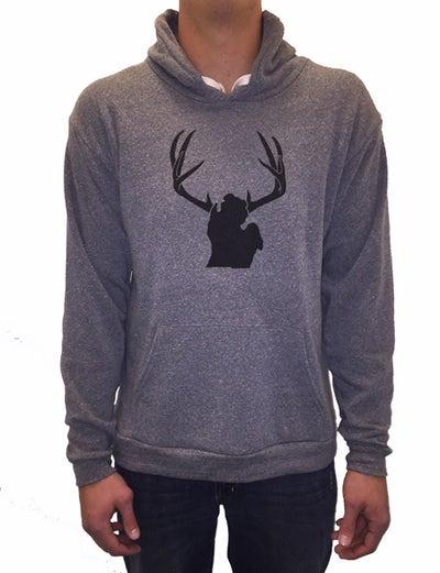 Image of Michigan Antlers Unisex Hooded Sweatshirt