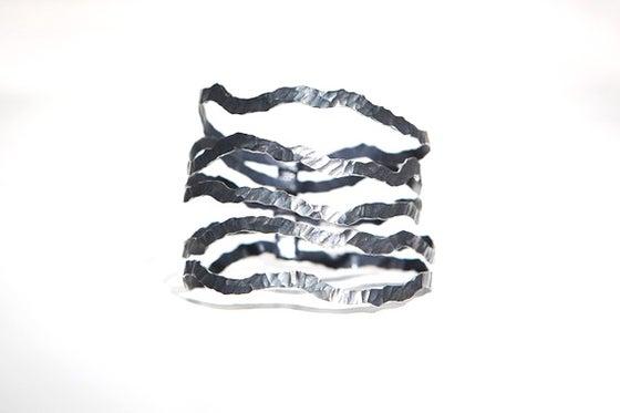 Image of Nouvelles Vagues, Bracelet in Fairmined oxidised silver