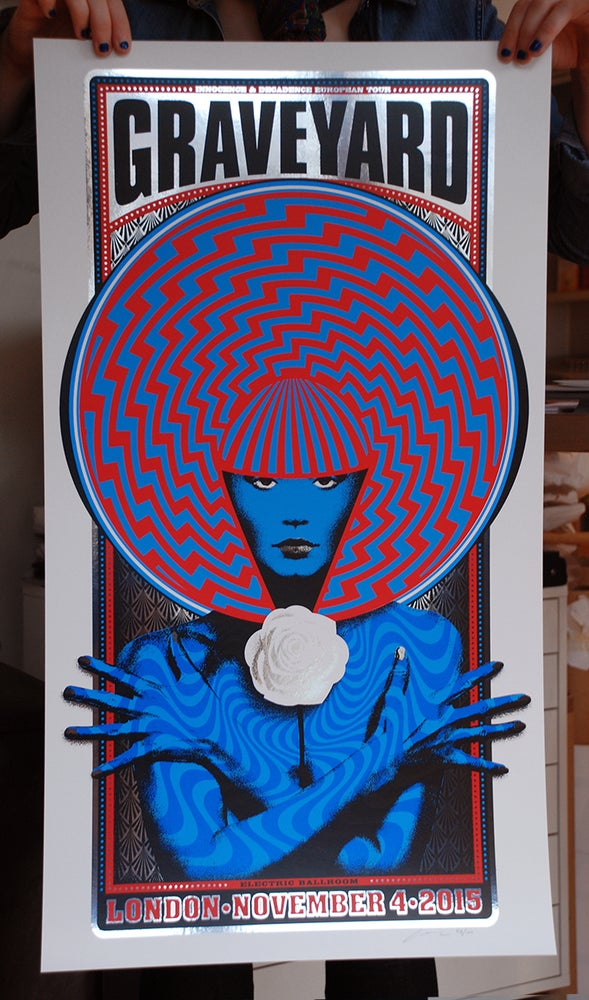 Image of SOLD OUT  - Graveyard London 2015 Silkscreen Poster - Main edition