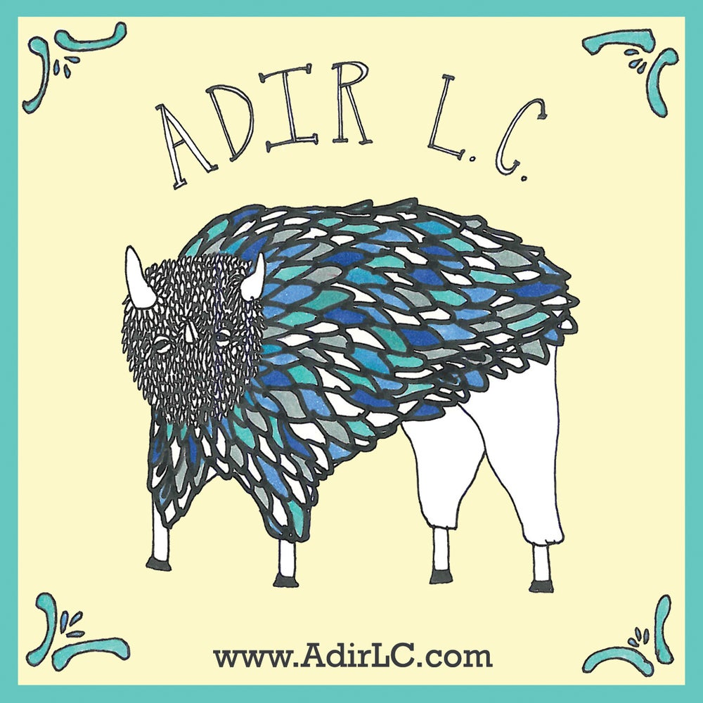 Image of Adir L.C. (DP Records) STICKER {{LIMITED!!!}}