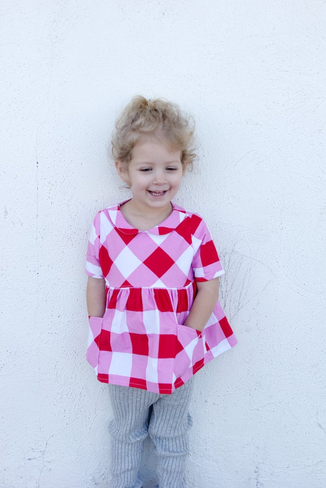Image of the GOLD COLLAR GIRL DRESS + TOP 18M to 10