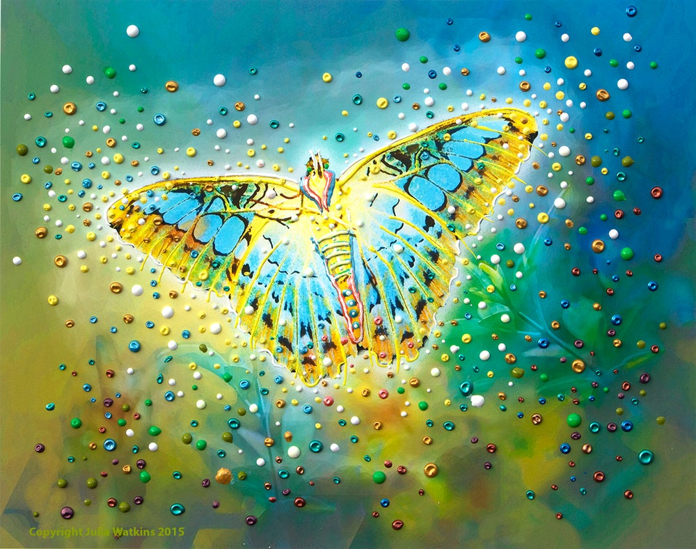 Image of The Magic Butterfly Energy Painting - Giclee Print