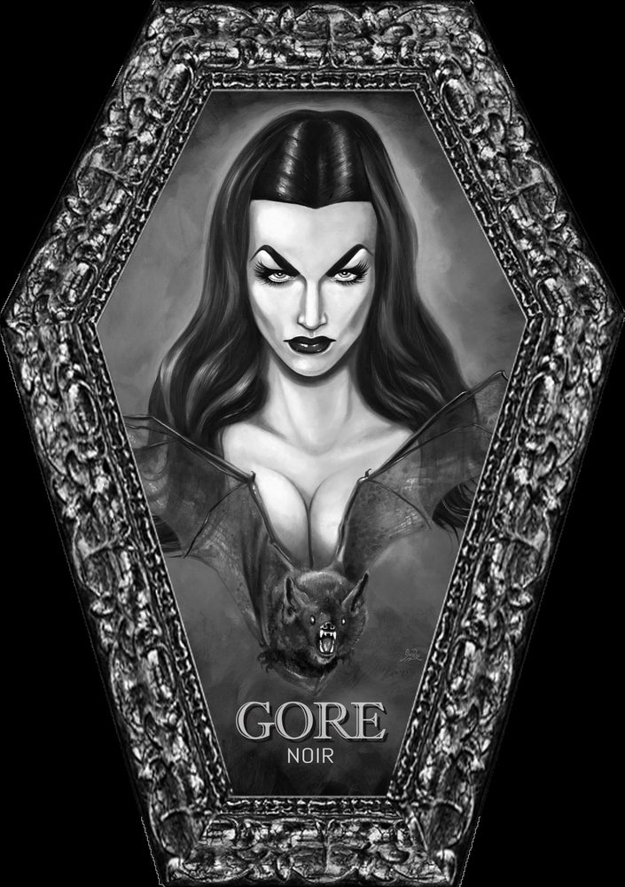 Image of Spooky Lady Coffin Shaped B&W Magazine Issue