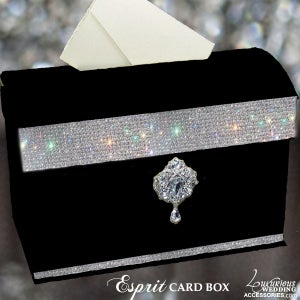 Image of Esprit Crystal Embellished Card Box