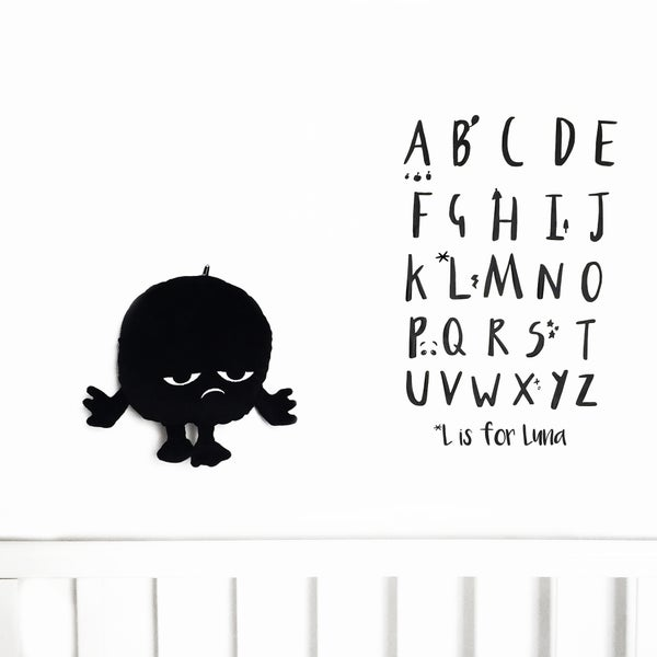 Image of Personalisable Alphabet Wall Decals
