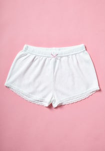 Image of GIRLS HEARTS SHORT ~ WHITE