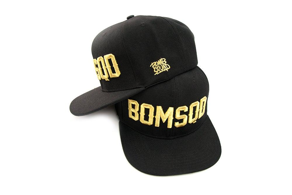 Bomb Squad Merchandise Store Bomsqd Snapback Black Amp Gold