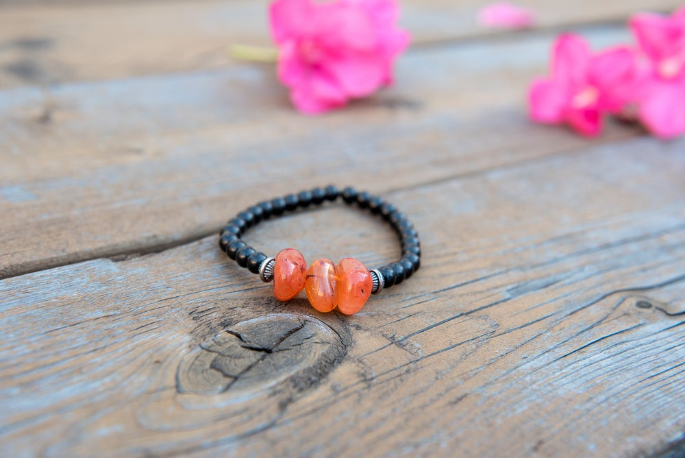 Image of Orange and Blue/Green Bracelets