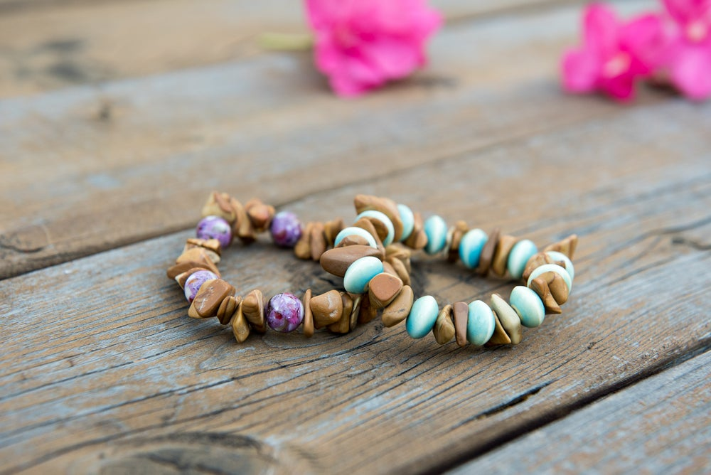 Image of Purple and Blue/Green Desert Bracelet