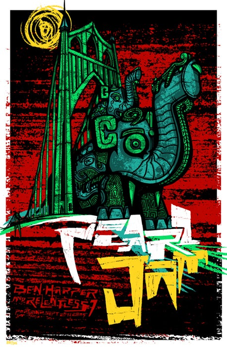 Image of Pearl Jam • '09 Screen Print