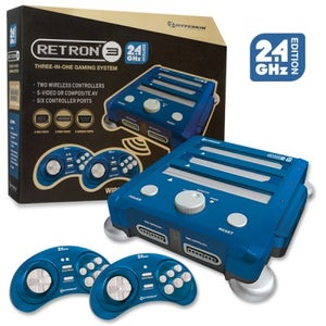 Image of SNES/ Genesis/ NES RetroN 3 Gaming Console 2.4 GHz Edition (Bravo Blue) - Hyperkin