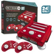 Image of SNES/ Genesis/ NES RetroN 3 Gaming Console 2.4 GHz Edition (Laser Red) - Hyperkin