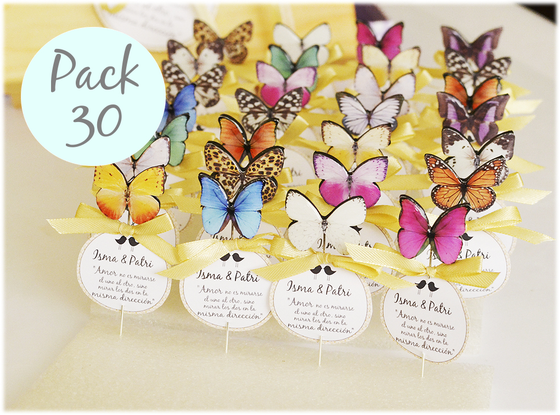 Image of Pack 30 alfileres mariposas variadas