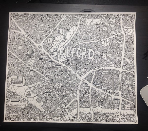 Image of Salford Doodle Map