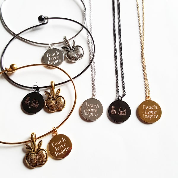 Image of $13. Teacher bangles or Necklaces