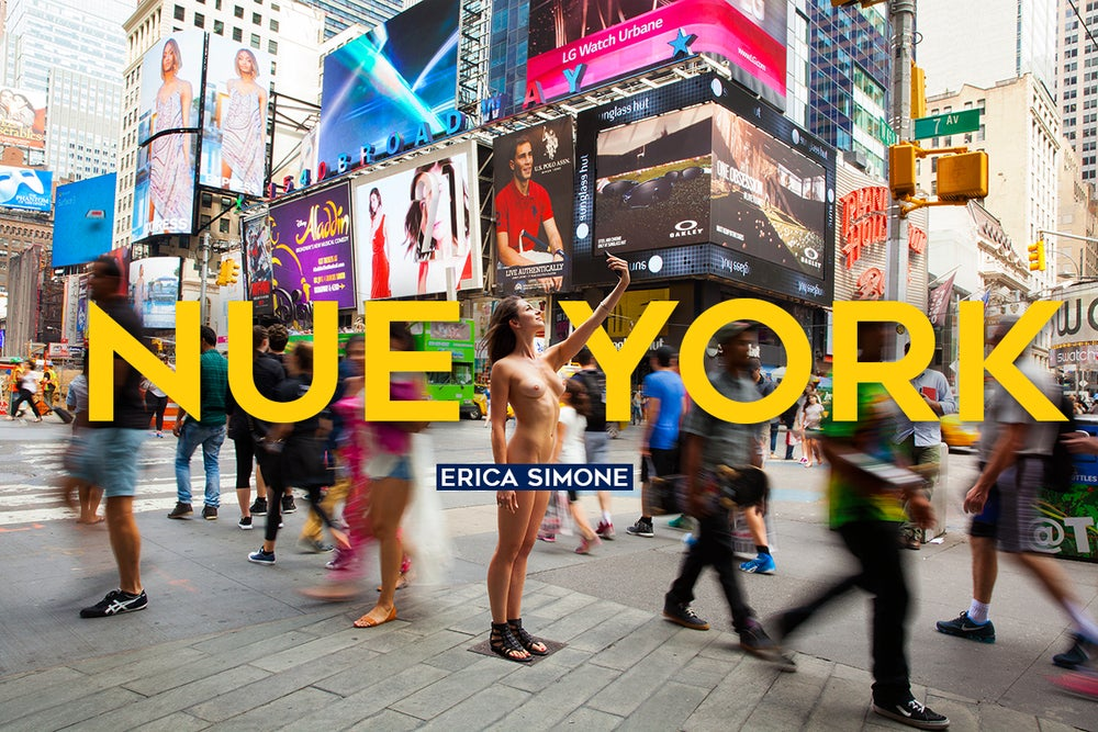 """Image of Signed Copy of """"Nue York: Self-Portraits of a Bare Urban Citizen"""" Book + 1 Signed 5x7 Postcard"""