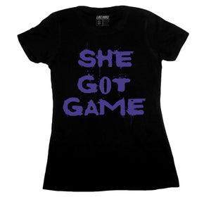 "Image of LIKE MIKE ""SHE GOT GAME"" Black/Purple"