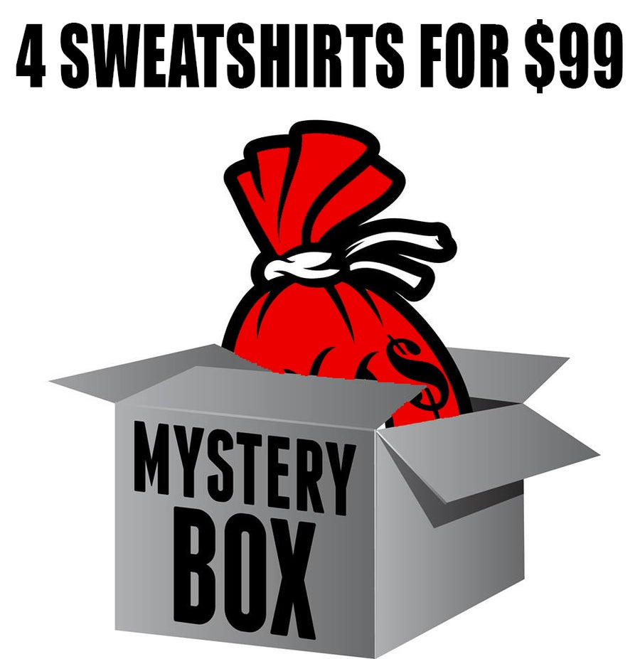 Image of Mystery Box of 4 Sweatshirts for $99