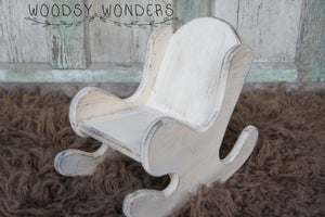 Image of For Newborns Only!! Adorable Hand Crafted, Hand Painted, Wood Rocking Chair!