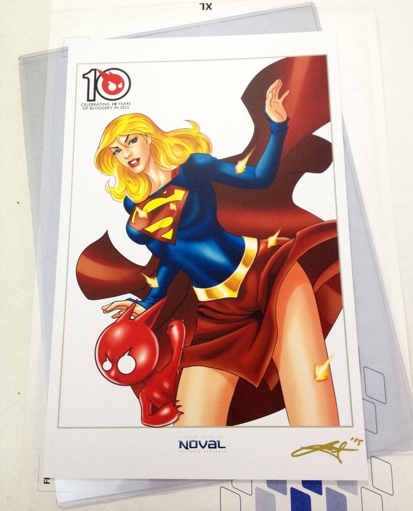 Image of TOYSREVIL-Edition Supergirl Print by Noval N. Hernawan