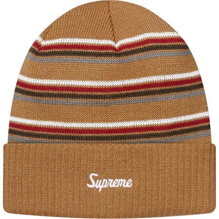 Image of Supreme - Multi Stripe Beanie (Tan)