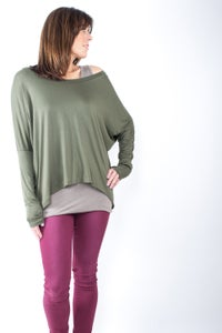 Image of Fine Knit Jersey Top