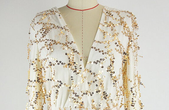 Image of HOT SHINING SEQUINS ROMPER
